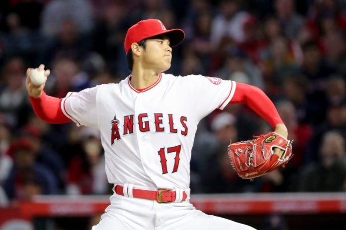 Los Angeles Angels starting pitcher Shohei Ohtani in 2018