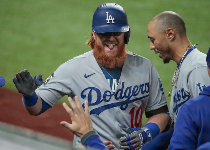 Justin Turner with the Los Angeles Dodgers in 2020